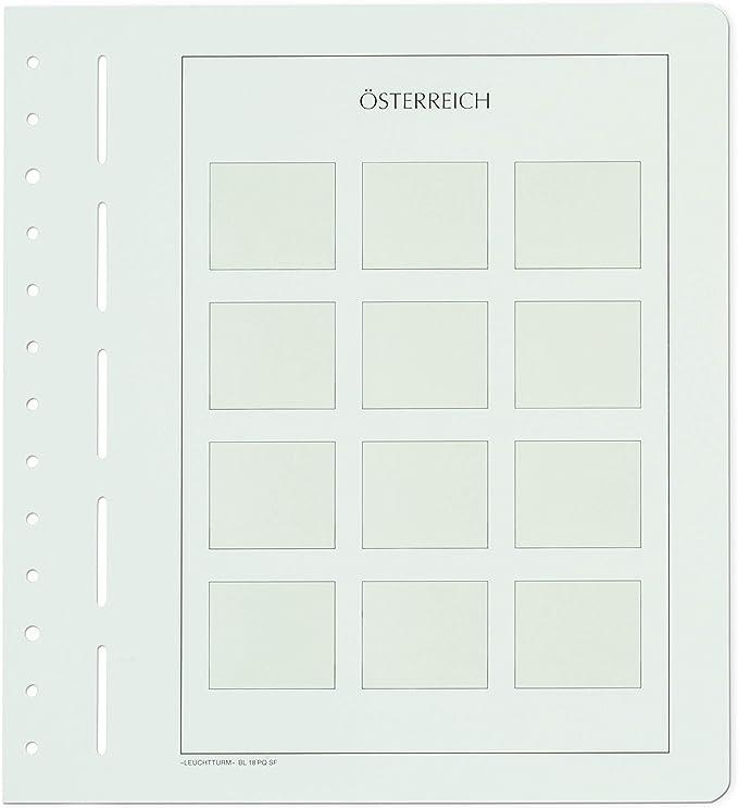 Leuchtturm 338025 Hojas de Álbum Neutras para Sellos Personalizados Austria (Formato Horizontal): Amazon.es: Juguetes y juegos