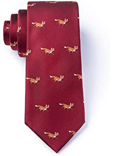 Mens Prowling Foxes Fox Extra Long XL Tie Necktie