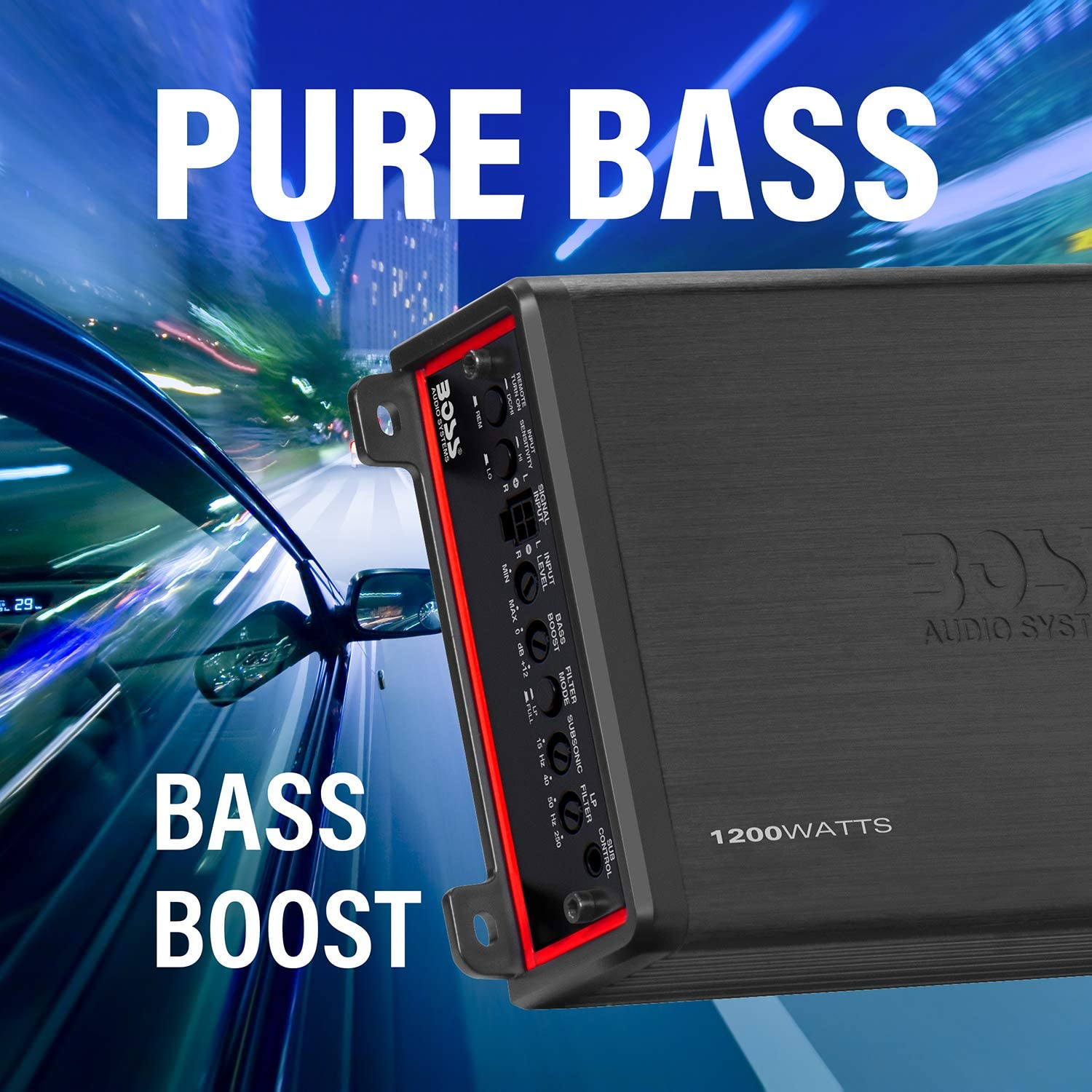 Monoblock 1 Ohm Stable Great for Subwoofers 1200 Watts BOSS Audio Systems Elite BE1200.1D Class D Car Amplifier Mosfet Power Supply Digital