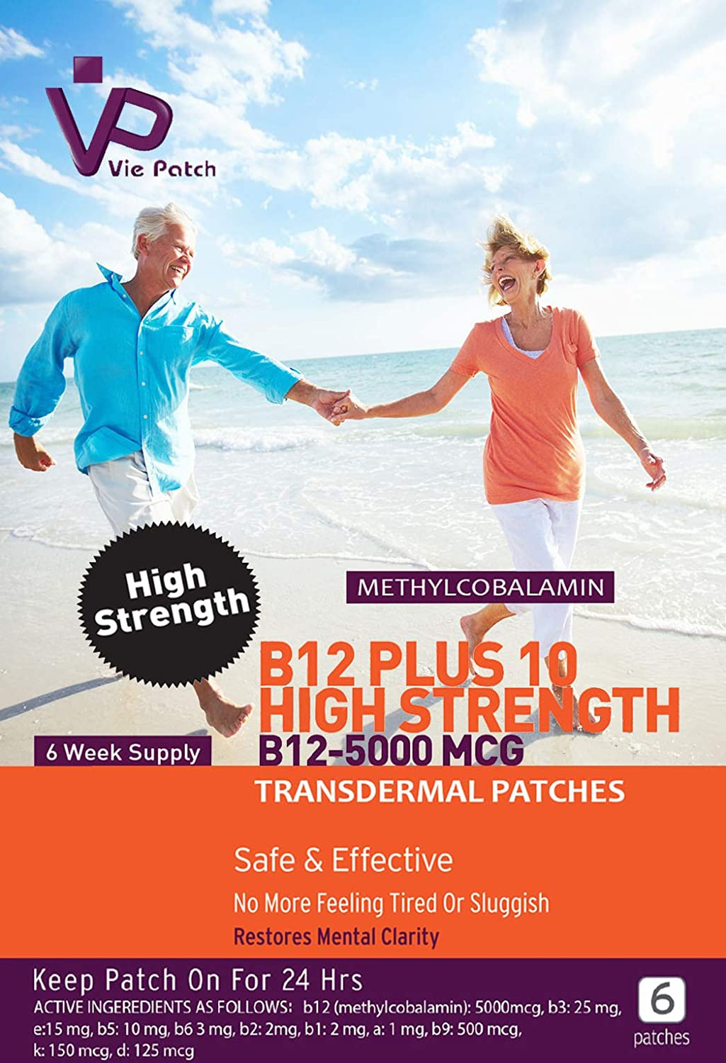 Viepatch vitamina B12 Plus 10 alta resistencia parches ...