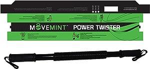 MOVEMINT Power Twister Chest Resistance Spring Bar Exerciser (20KG to 100KG Options)