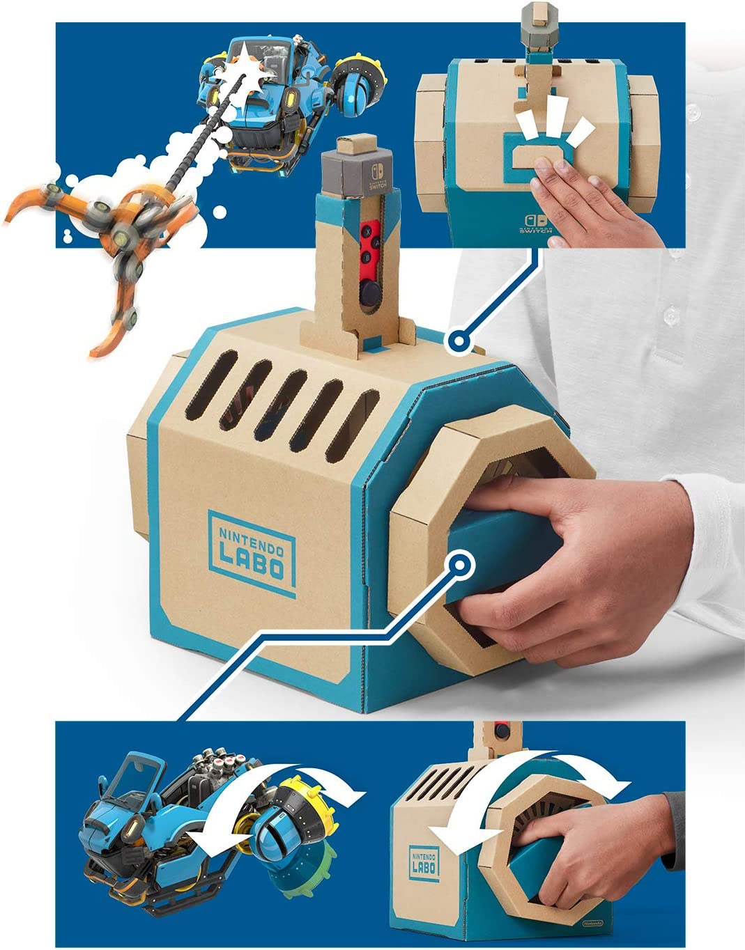 Nintendo Labo (ニンテンドー ラボ) Toy-Con 03: Drive Kit - Switch (【Amazon.co.jp限定】オリジナルマスキングテープ+Nintendo Labo免許証風カード 同梱): Amazon.es: Videojuegos