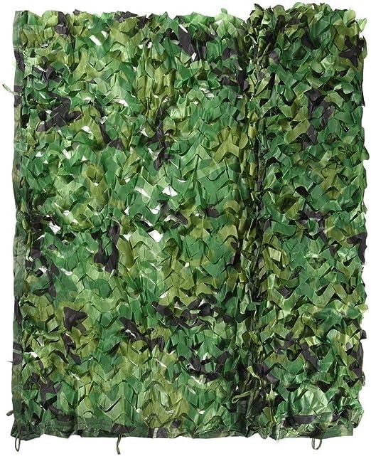 Qjifangzyp 2 * 3M Red De Camuflaje Oxford Tela Jardín Visera De Camuflaje Red Camping Ejército Caza Tiro Escondido Hojas Falsas Niños Carpa Verde Personalizable Tamaño: Amazon.es: Hogar