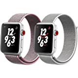 TStrap For Apple Watch Sport Loop Band 38mm 42mm, Lightweight Breathable Nylon Replacement Band for iWatch Series 1, Series 2, Series 3, Sport, Edition, Nike+