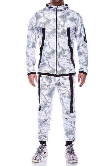 365f687b60 MT Styles ensemble pantalon de sport + sweat-Shirt jogging survêtement R-854  [