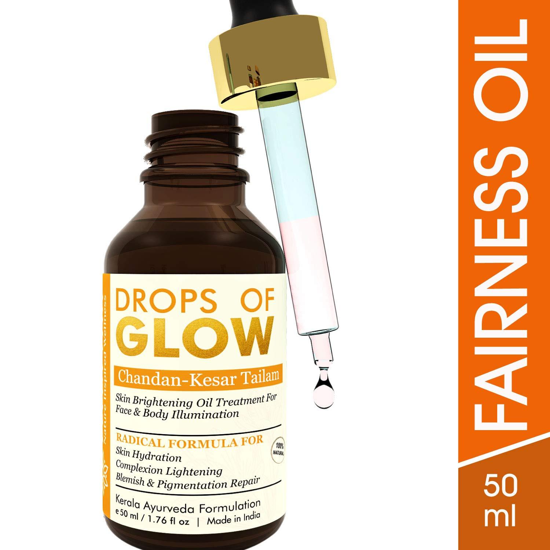 Bella Vita Organic Drops Of Glow - Fairness & Brightening Chandan Kesar Tailam Face Oil Serum with Saffron & Red Sandalwood, 50 ml product image