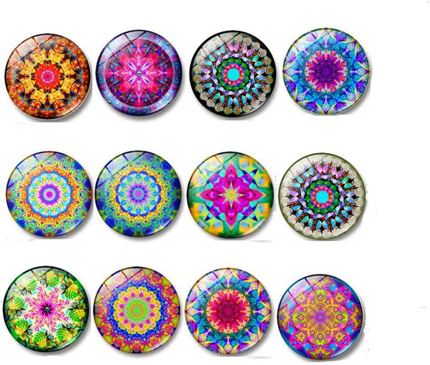 20pcs Glass Refrigerator Magnets Fridge Magnets Set for Whiteboards, Office Cabinets, Photos, Beautiful Decorative Magnets for Decorate Home