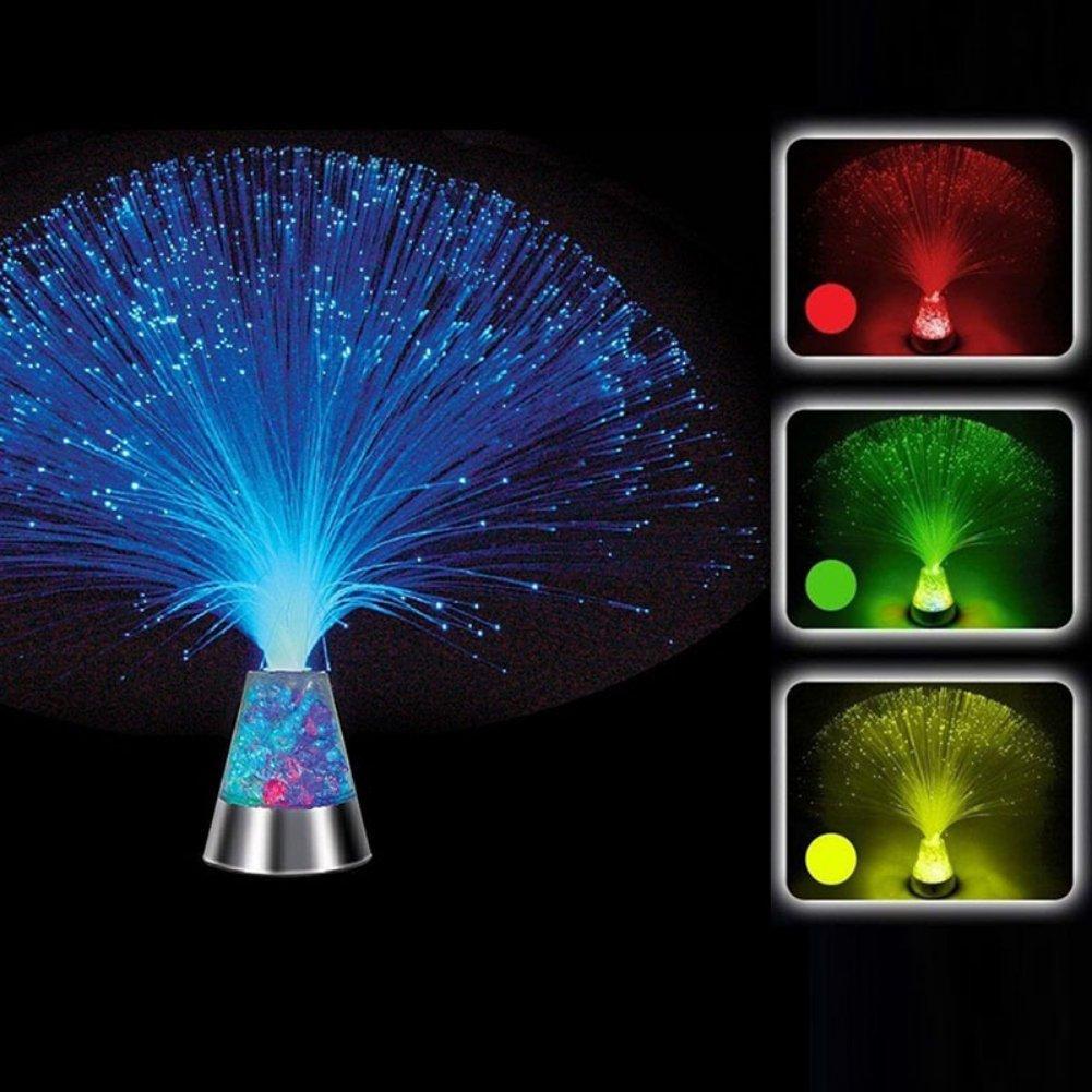 Fountain Night Light Ice LED Cristal Hankyky Lampe /à Fibre Optique