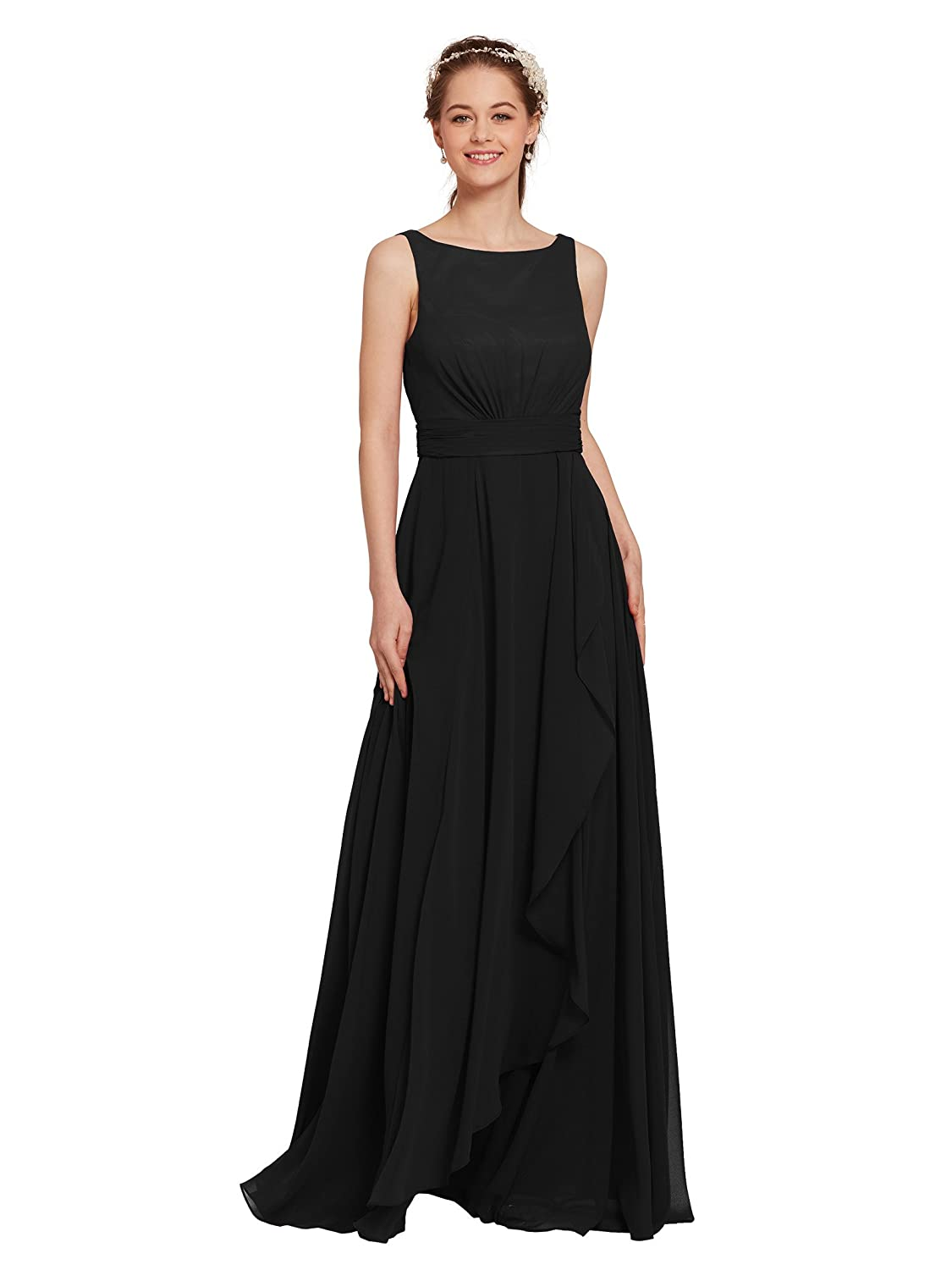 AW Bridal Long Bridesmaid Dresses Chiffon Formal Dresses A-Line Evening  Dresses for Women at Amazon Women s Clothing store  70f1749e1