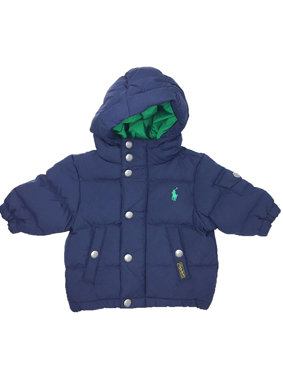 Ralph Lauren Feather Down French Navy Blue Puffy Coat 3 Months