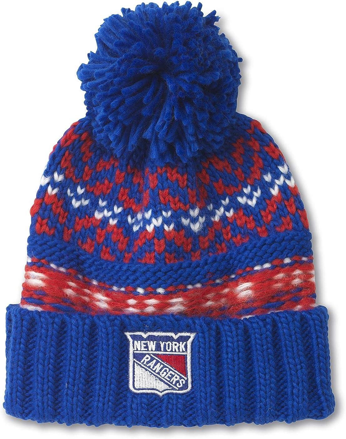 American Needle NHL Gusto Cuffed Pom Beanie Knit Hat