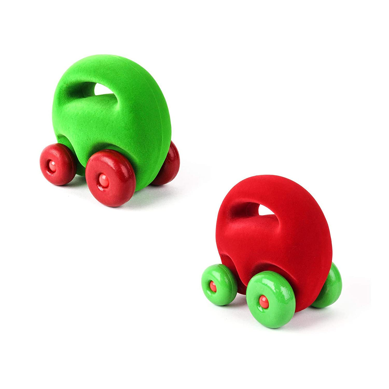 Rubbabu Mascot Car Grab Em 2 Pack Red and Green Car