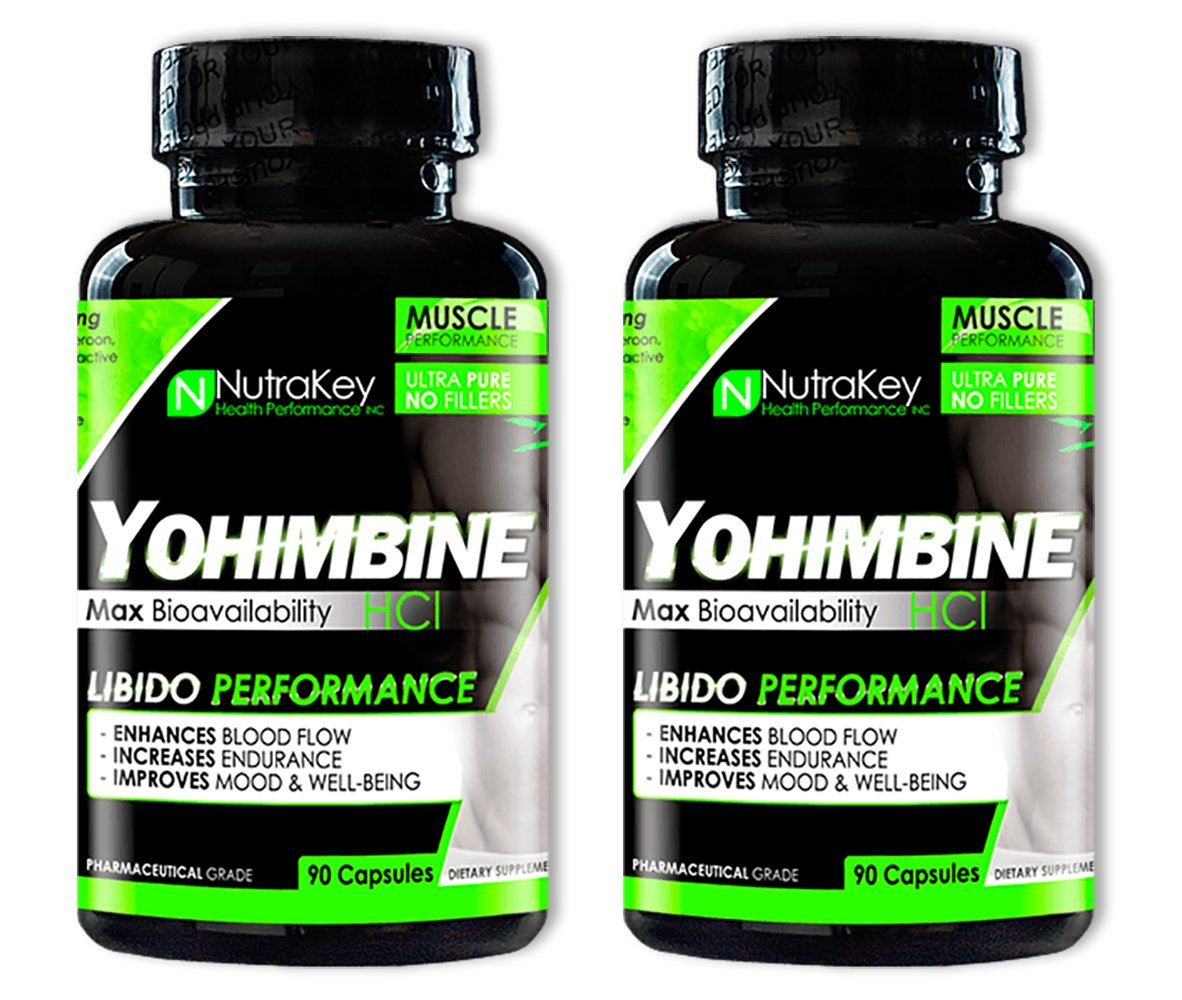 NutraKey Yohimbine HCl 90 Capsules (2 Pack) by NutraKey