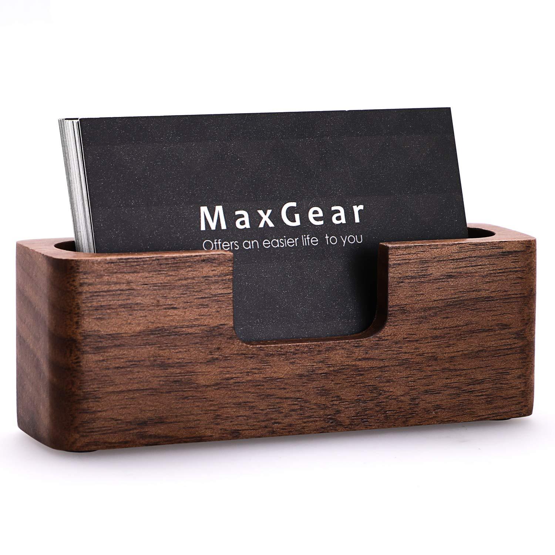 Amazon Maxgear Business Card Holder Wood Business Card Holder