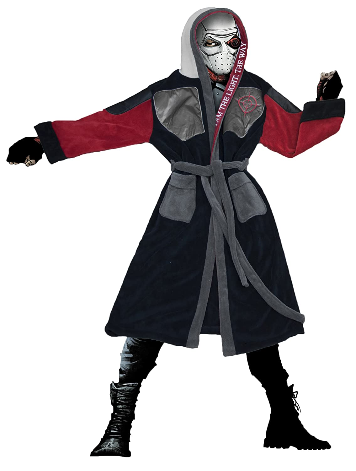 Mens DC Comics Deadshot Suicide Squad Hooded Dressing Gown TruffleShuffle
