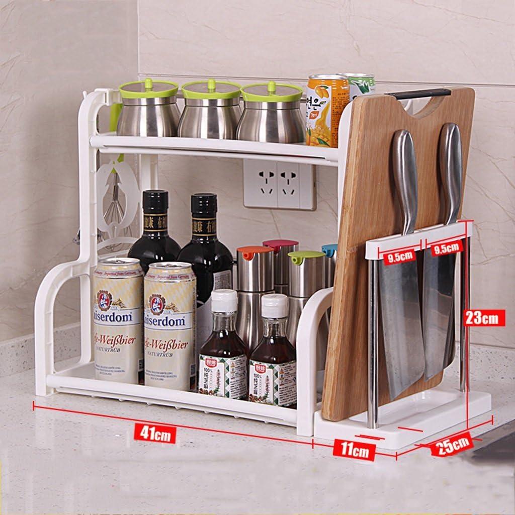 escritorio botellas estanter/ía para casa especias Binchil Estanter/ía de bamb/ú de 2 capas para cocina decoraci/ón organizador especias