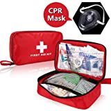 Unizooke First Aid Kit (180 Pieces) Med Trauma Bag, Waterproof First-aid Kits Car, Camping, Business, Emergency, Hiking & Survival, Pets, Home Sports, Get Prepared for Emergency