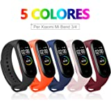 BANGTING 5 PCS Correa Compatible con Pulseras Xiaomi Mi Band 3/4, Correas para Fundas Mi Fit Band 4 My Band 3…