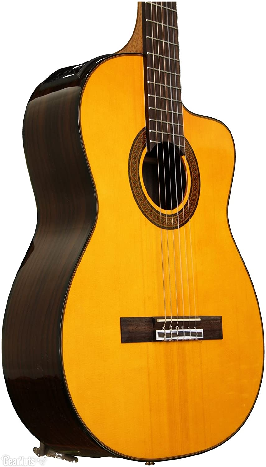 Amazon.com: Takamine GC5CE-NAT Acoustic-Electric Classical Cutaway ...