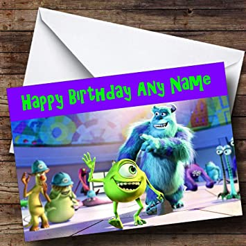 Personalised Monsters Inc Birthday Card Amazon Office Products