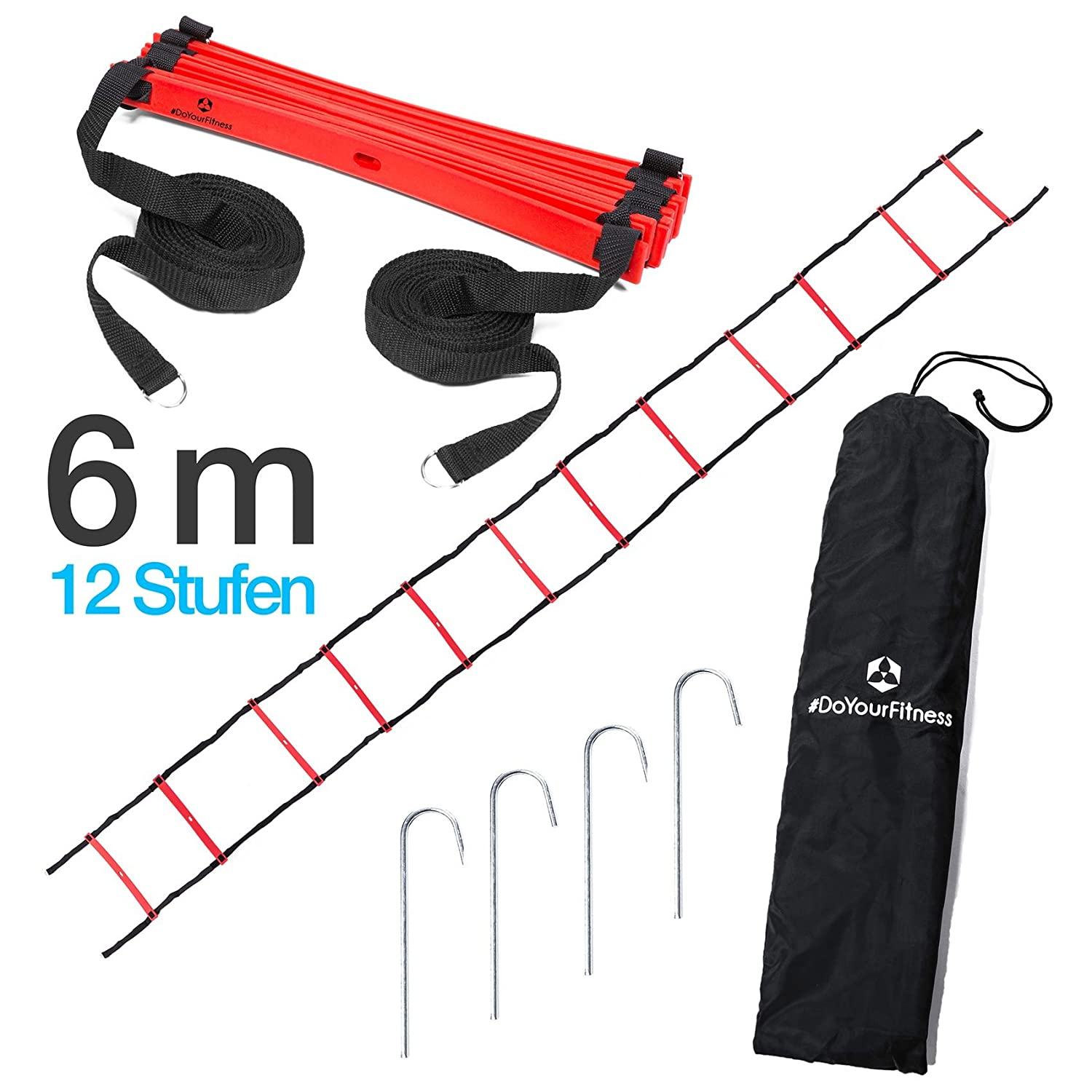 #DoYourFitness Fitness Speed Training Agility Ladder Ladder Agility Ladder – 4 6 m 8 M Long – Training Ladder (Engl.) and Conditioning for Agility/Speed Training #DoYourSports