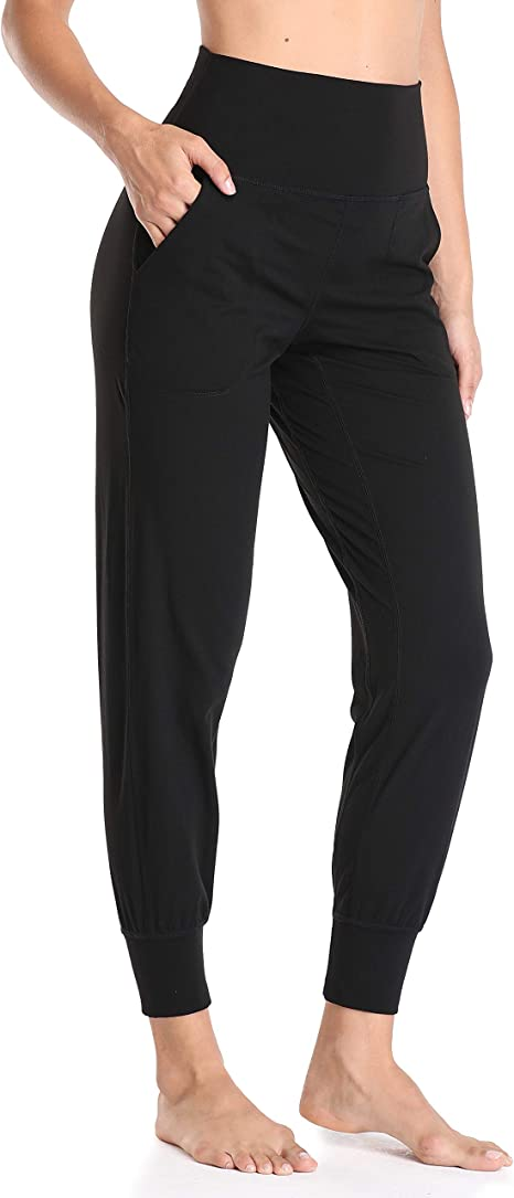 Colorfulkoala Women's High Waisted Fitted Joggers