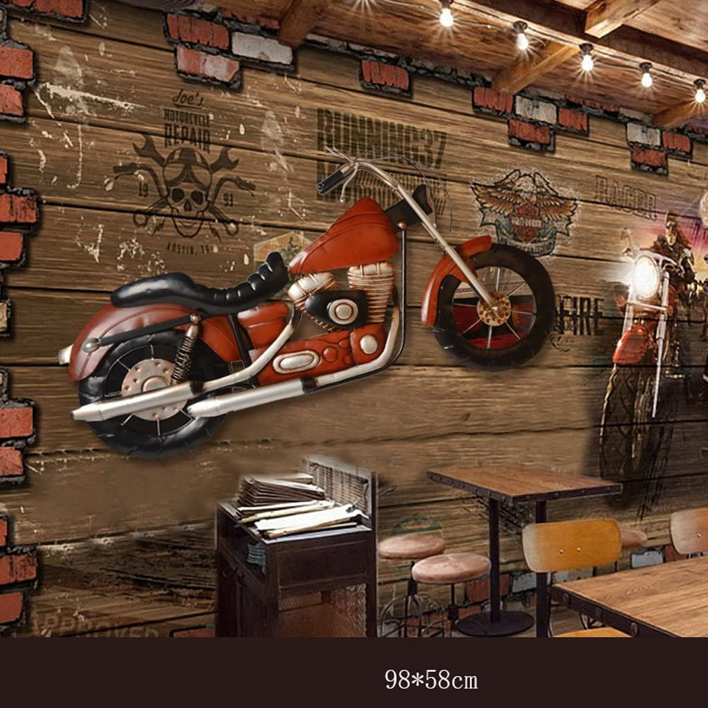 Color : #1 MMM Industry American Style Motorcycle Wall Decoration Wall Hanging Bar Iron Ornaments
