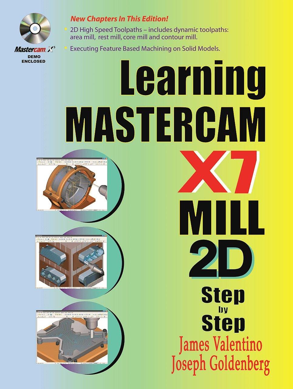 learning mastercam x7 mill 2d step by step james valentino joseph rh amazon com Iscar Mastercam Tool Library Mastercam X6 Mill