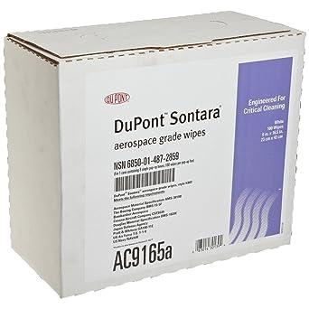 Contec ac9165 Dupont Sontara blanco aviones limpiador en único Pop-up caja dispensadora, 9