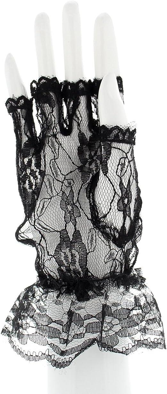 SHORT FINGERLESS FISHNET GLOVES FANCY DRESS 80S MESH NET HEN STAGE