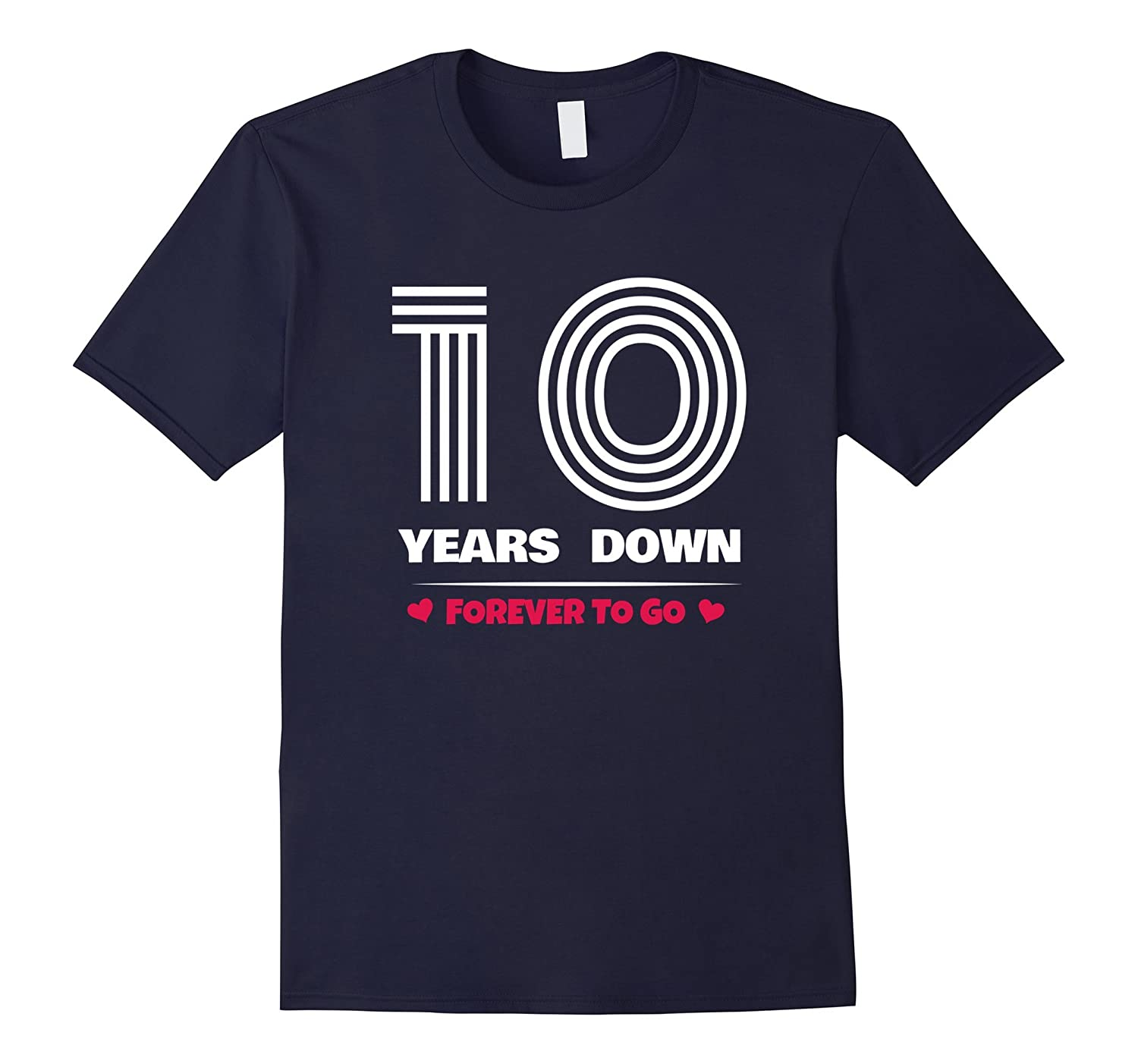 10th Wedding Anniversary T-Shirt Funny For Married In 2007 Y-Rose