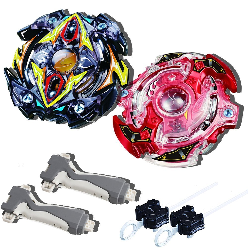 4D Spinning Top Game Toy STORM GYRO Bey battling Top Gyro blade Burst B-59 Starter Zillion Zeus.I.W. Zeus And Storm Spriggan .K.U B-35 metal fusion Battle Top With launcher and grip