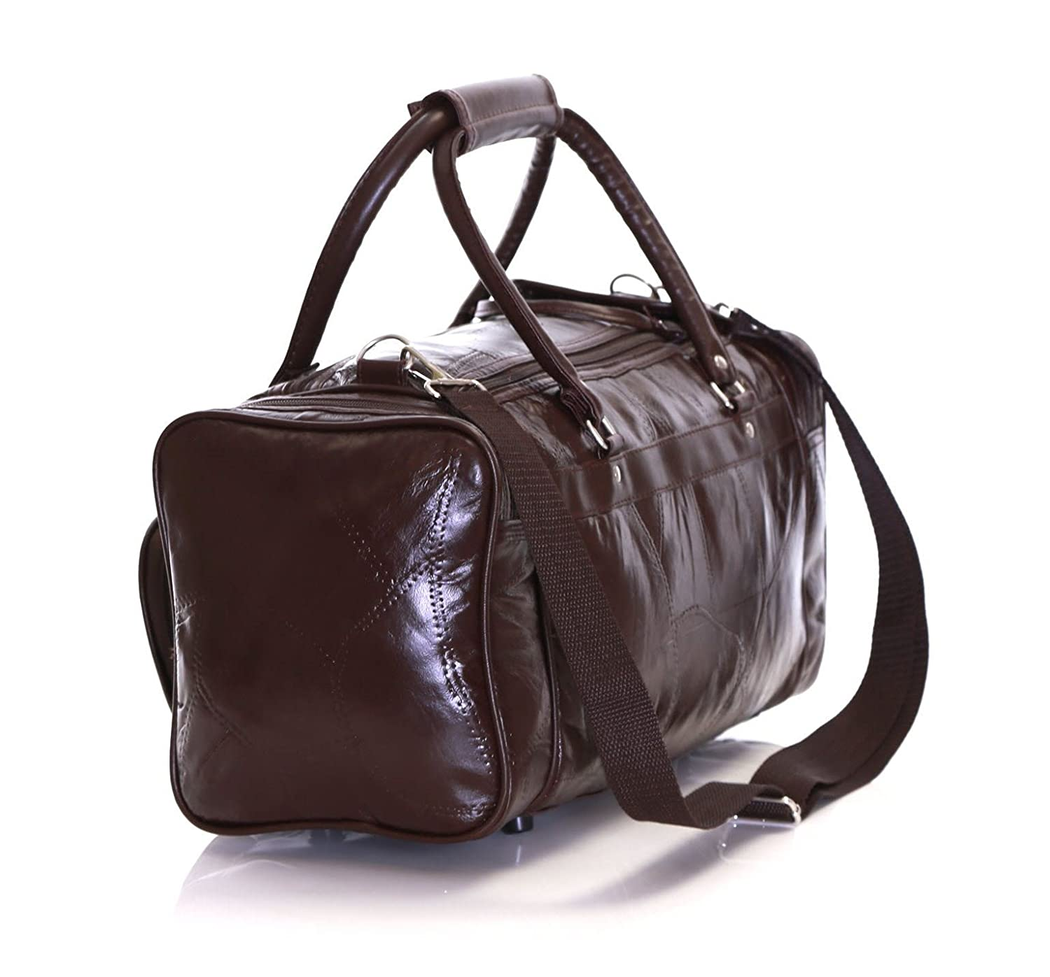 Slimbridge Malaga sac en cuir Voyage, Marron