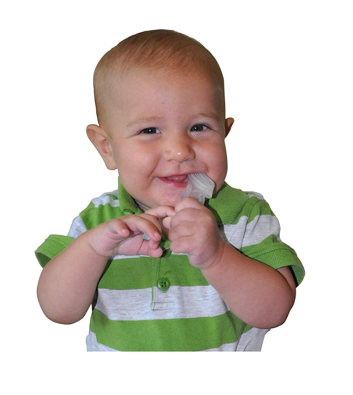 Baby Buddy - Cepillo de dientes para bebé Blue/Clear Talla:2 Count: Amazon.es: Bebé
