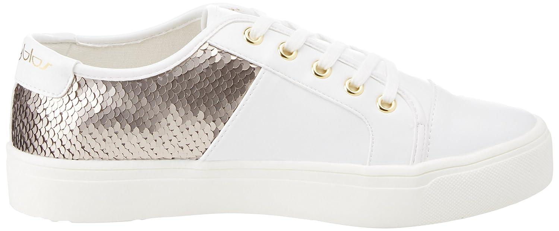Byblos Sneaker Funny, Baskets Femme, Blanc (Bianco/Argento 266), 41 EU