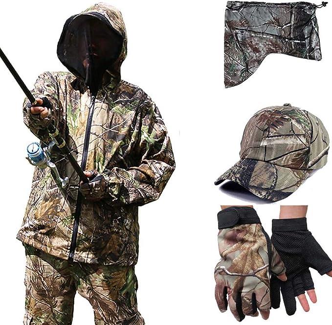 Herren Camouflage Angelset Sonnenschutz Kleidung Outdoor
