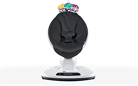 4moms mamaRoo, Hamaca High-Tech para Bebés Activada por Bluetooth – Tejido de Nailon Clásico con 5 Movimientos Únicos