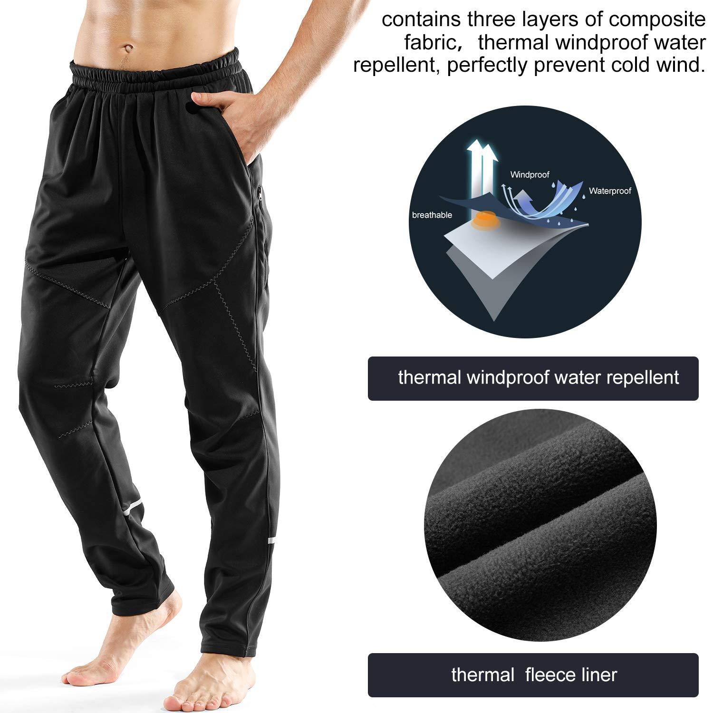 LAMEDA Mens Outdoor Lightweight Windproof Soft Shell Hiking Mountain Fleece Warm Pants
