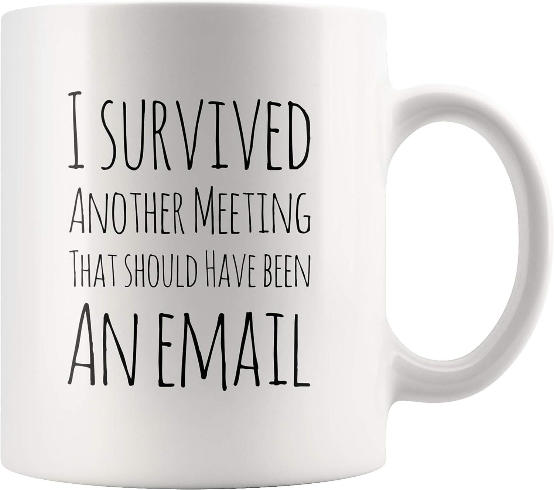 Office Mug I Survived Another Meeting That Should Have Been Email 11oz Novelty Mug