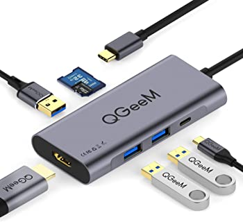 QGeeM 7 in 1 Type C Hub to HDMI Adapter