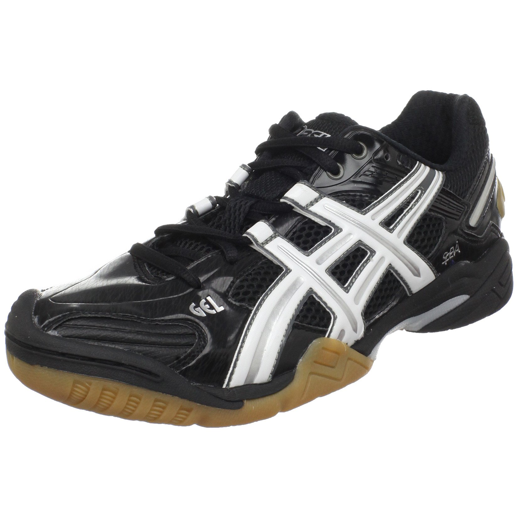 ASICS Women's GEL-Domain 2 Volleyball Shoe,Black/White/Black,11 M