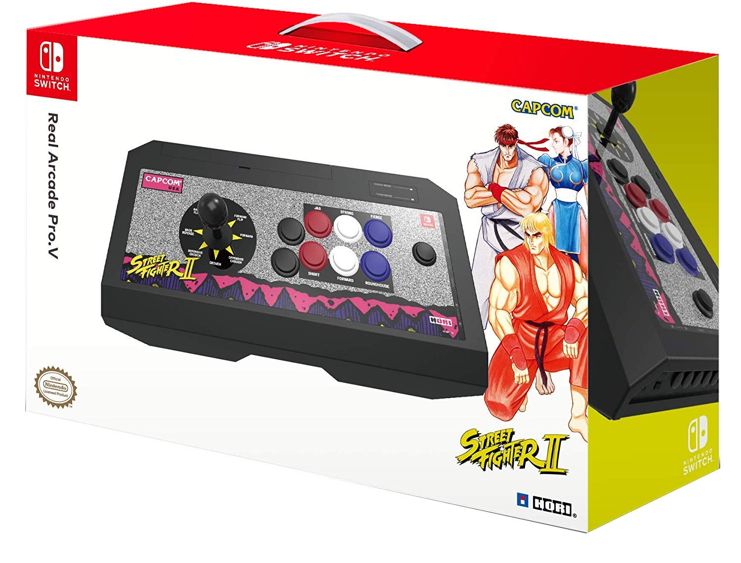 HORI Nintendo Switch Real Arcade Pro - Street Fighter™ Edition (Classic Arcade) Officially Licensed by Nintendo & Capcom