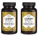 Special Offer, Intro Pack - Lipogen PS Plus Extra Focus and Memory Brain Booster Supplement, Clinically Proven Formula, Extra