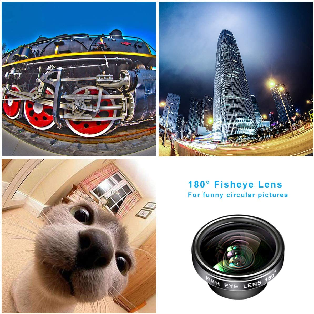 Samsung S9//8//Note 9//8//S6 0.63X Wide and 15X Macro Lens for iPhone X//XR//8//7//6S 0.4X Super Wide /& 180/° Fisheye Lens AFAITH 5-in-1 Phone Lens kit-9X Zoom Telephoto Lens LG Phone Camera Lens
