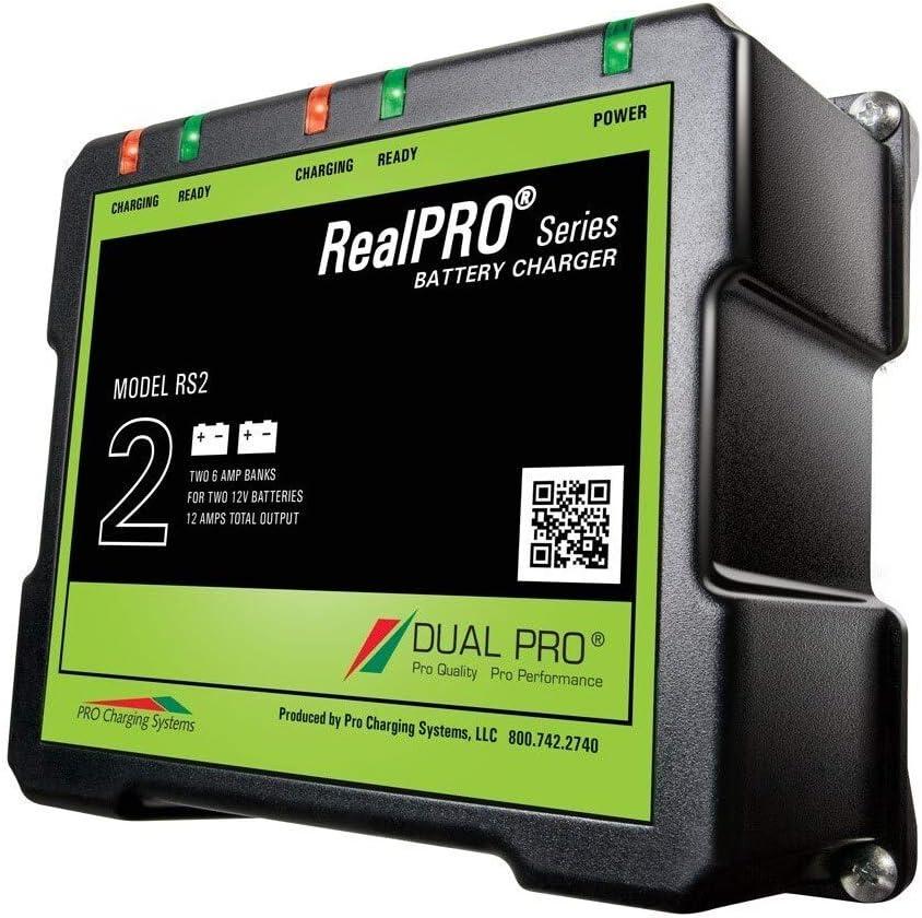 Dual Pro RealPRO Series Battery Charger 12A 2 6A Banks 12V24V