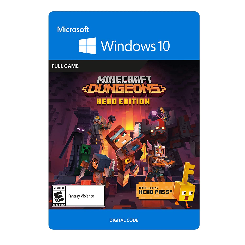 Amazon Com Minecraft Dungeons Hero Edition Pc Online Game Code