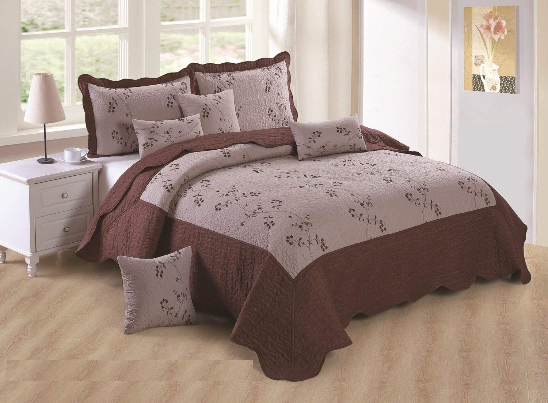 Pink, Double 3PCS Stylish Design Luxury Toronto Embroidery Bedspread
