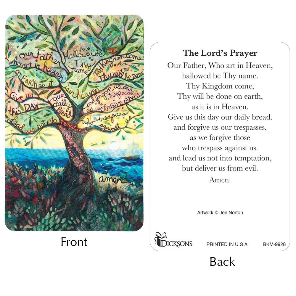 The Lord's Prayer - Prayer Card Pack of 12