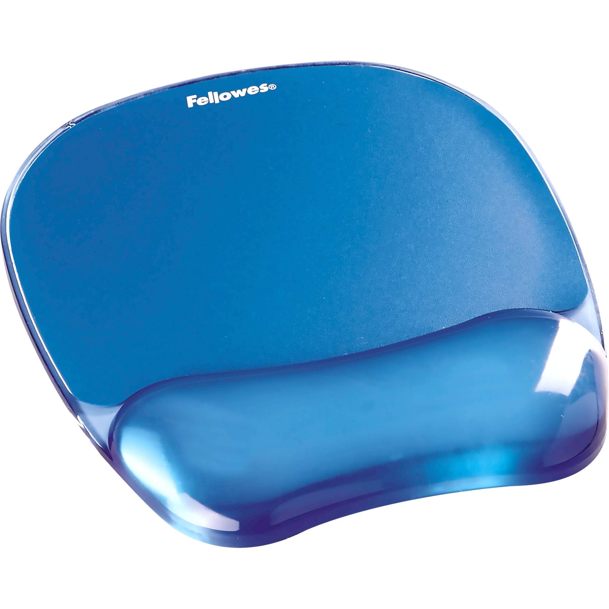 Fellowes Gel Crystal Mousepad/Wrist Rest, Blue (91141) by Fellowes