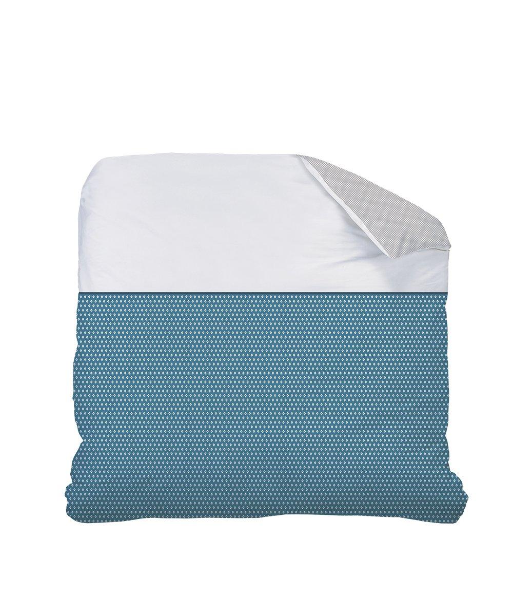 CTI 043958 matt & Rosa Esprit Geometrische Bettbezug Baumwolle Ente grau Weiß 260 x 240 cm